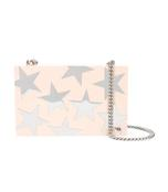 light pink star chain clutch