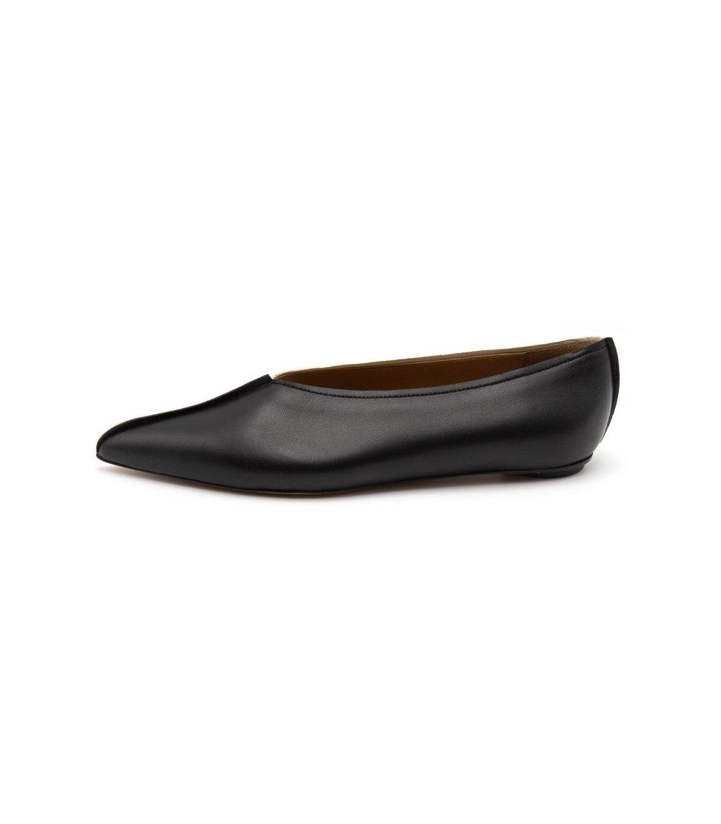 Marni Bi-Color Dancer Shoe in Black/Alabaster