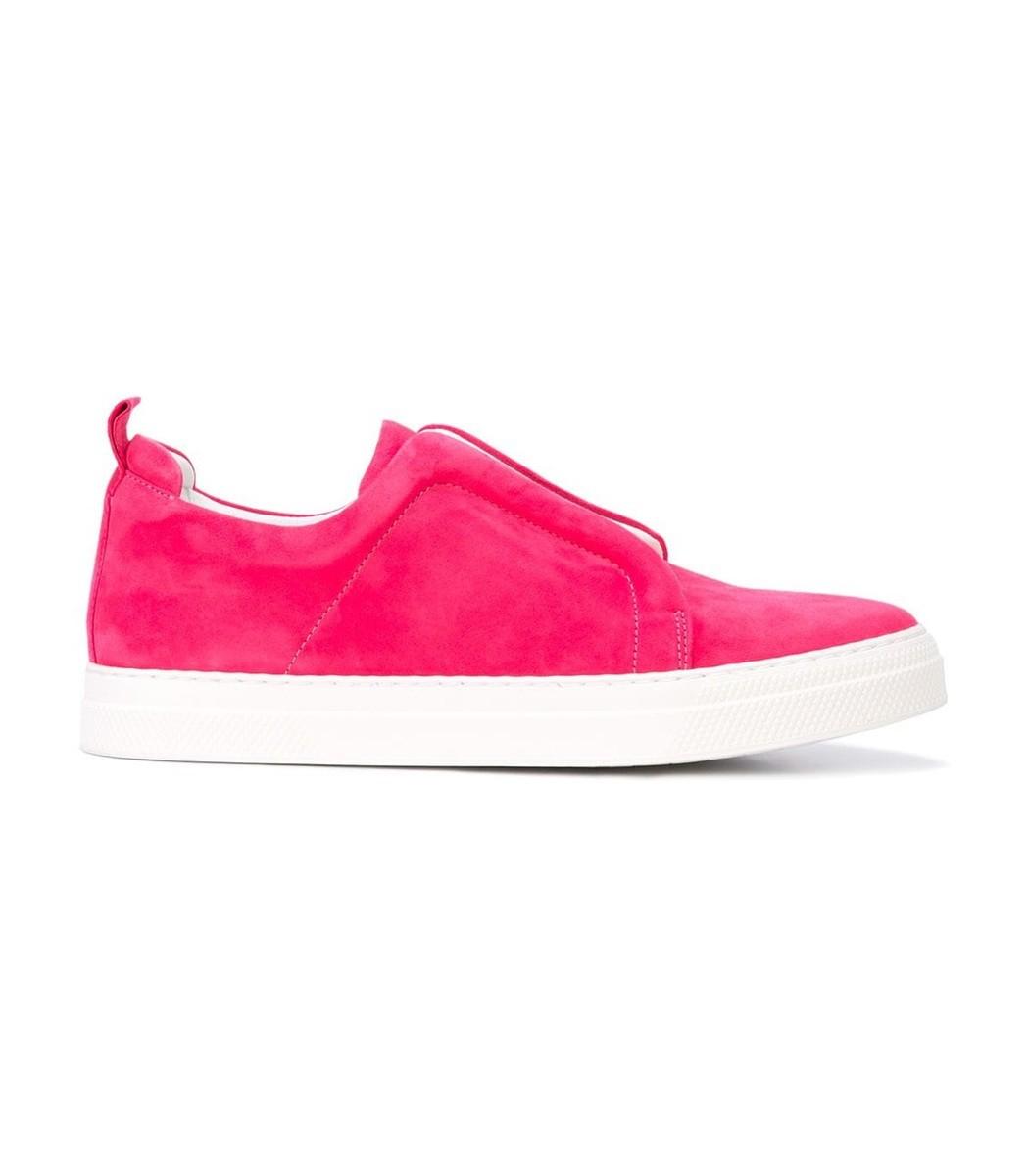 PIGALLE Pink Suede Slider Sneakers