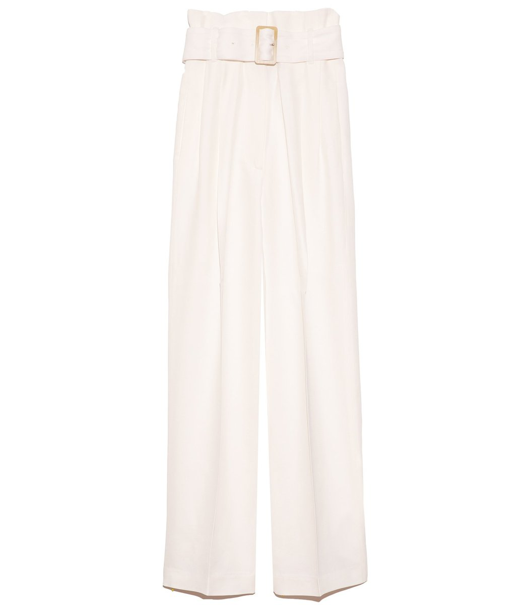 Golden Goose Linings Cleofe Pant with Belt in Optic White