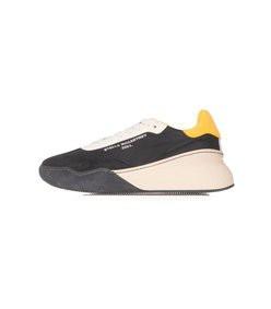 runner loop sneaker in black/white