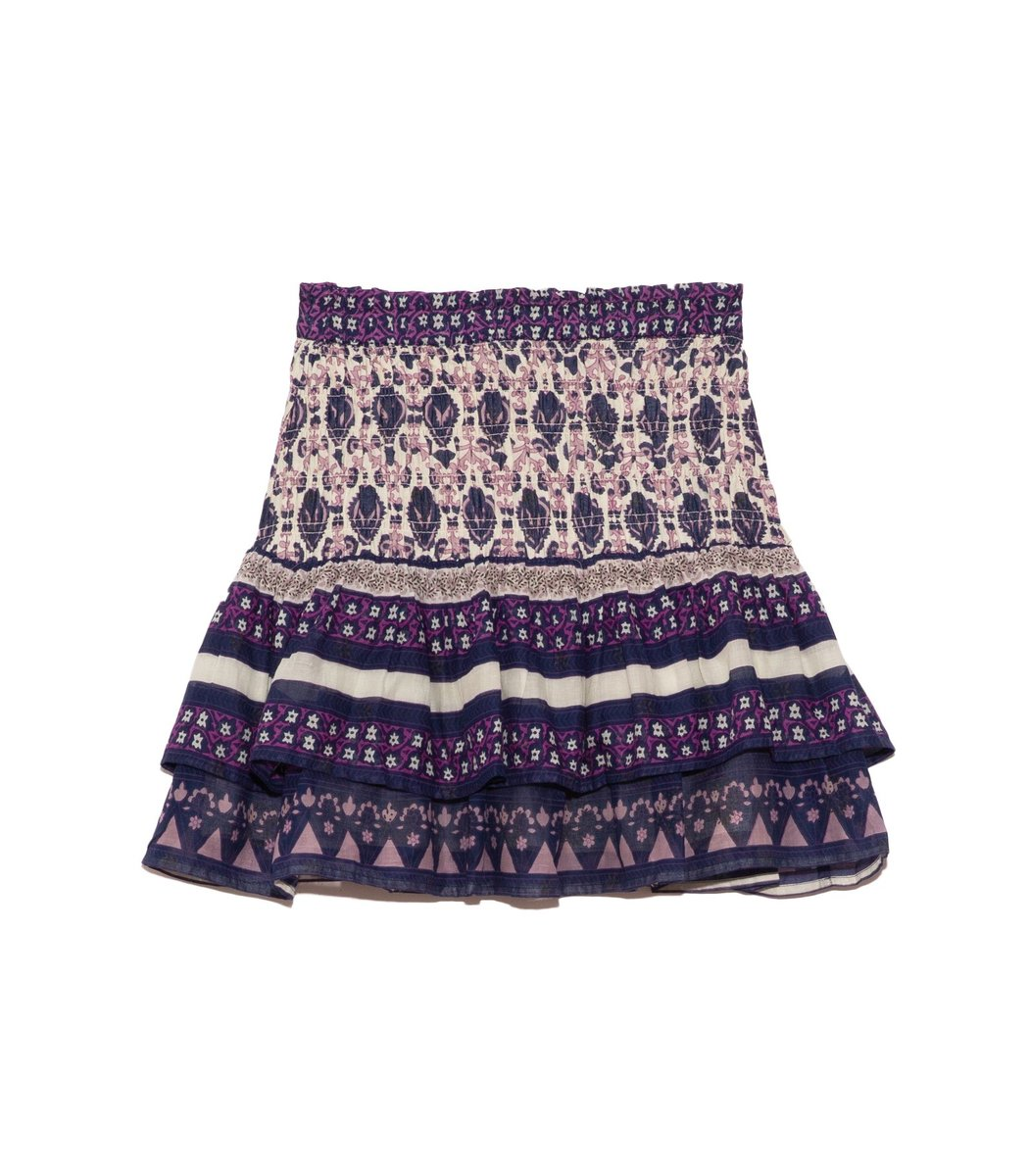 Sea Cottons Brigitte Border Skirt in Violet