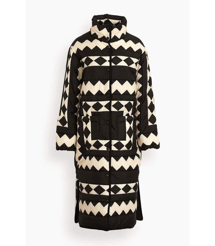 helena long sleeve coat in black