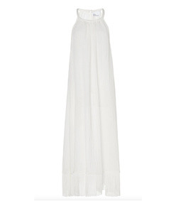 ojai fringed linen-blend dress