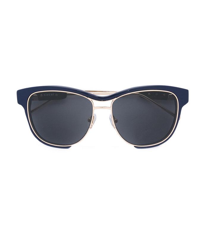 blue linda farrow x square frame sunglasses