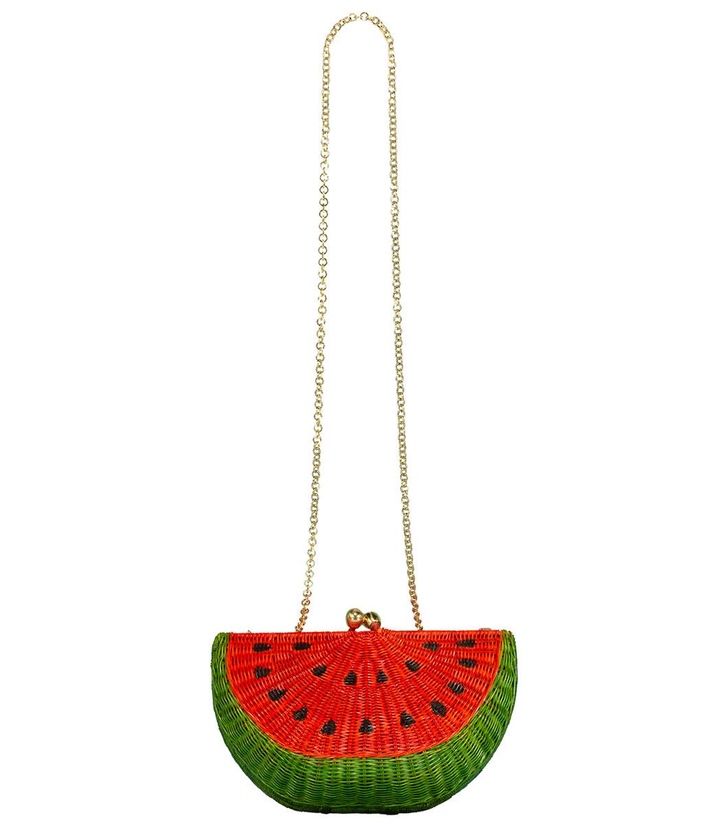 Serpui Watermelon Chain Strap Clutch