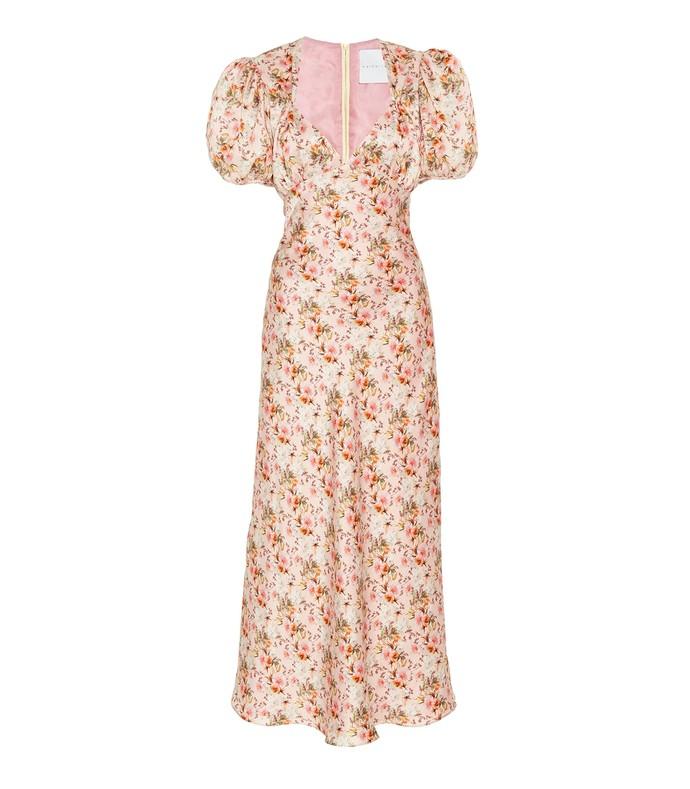 titian floral silk dress
