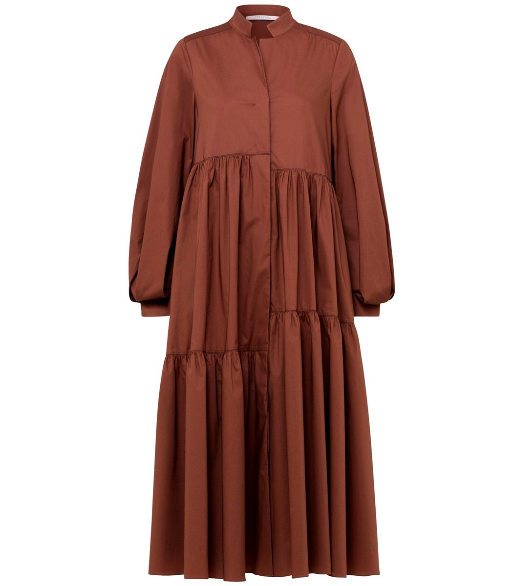 Dorothee Schumacher Poplin Power Dress in Nougat Brown TS