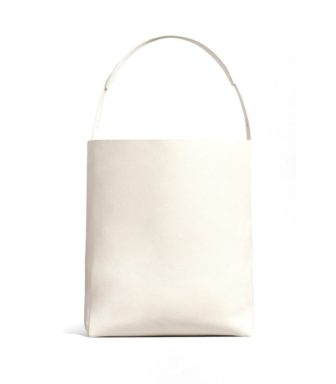 large crossbody tote bag in ivory