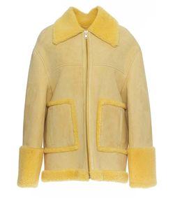 oversized suede shearling jacket