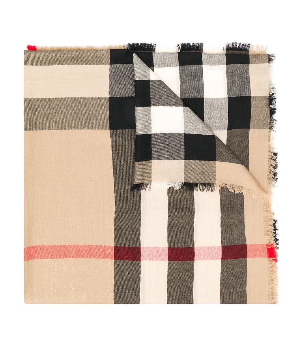 BURBERRY Beige Archive Cashmere Scarf