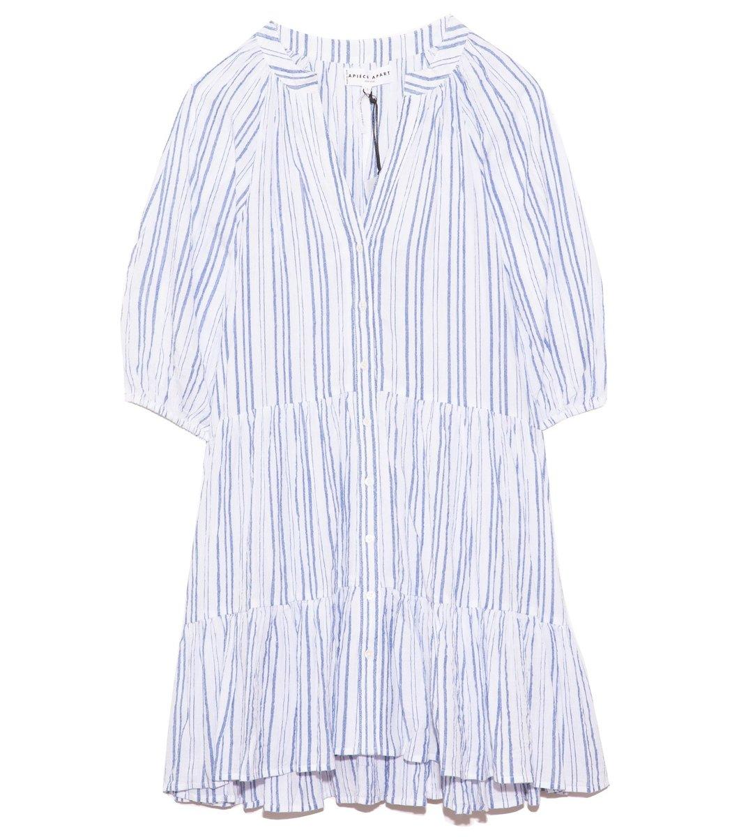 Apiece Apart Mini Mitte Dress in Stripes