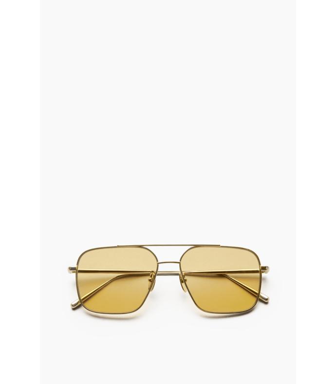 aviator sunglasses in yellow
