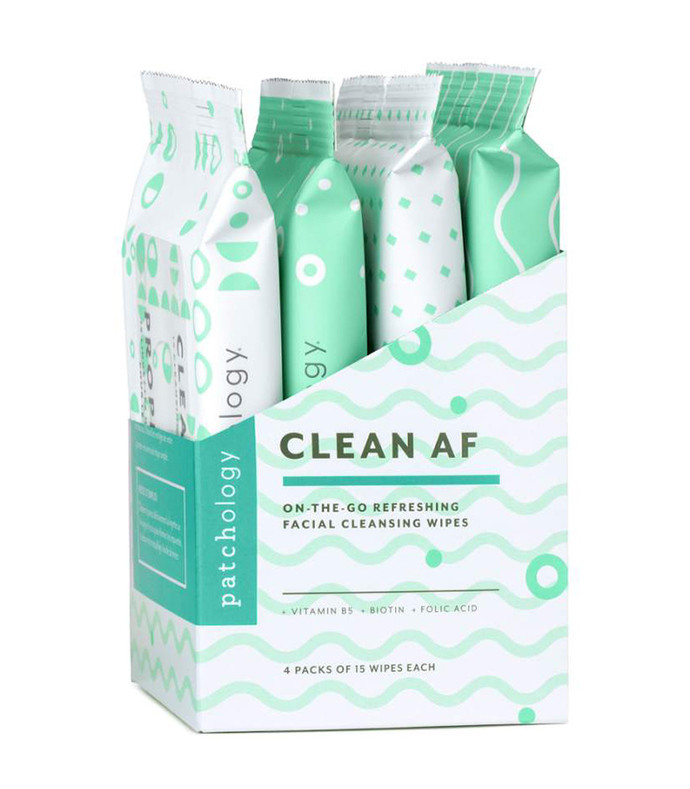 clean af on-the-go cleansing wipes  60 wipes