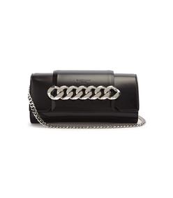 black infinity mini chain bag