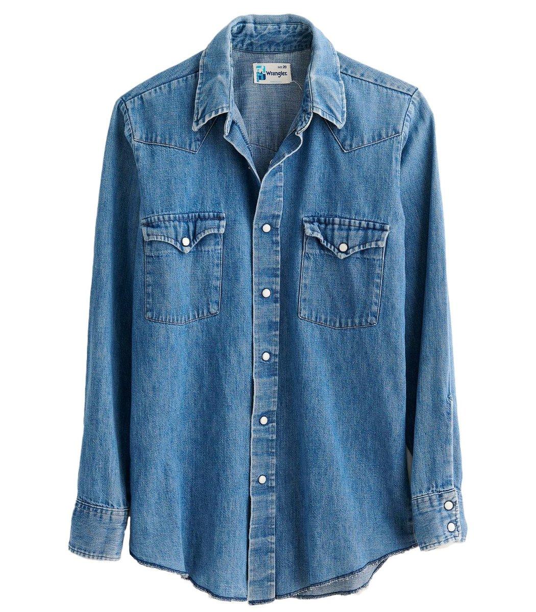 Alex Mill Western Vintage Wash Denim Shirt
