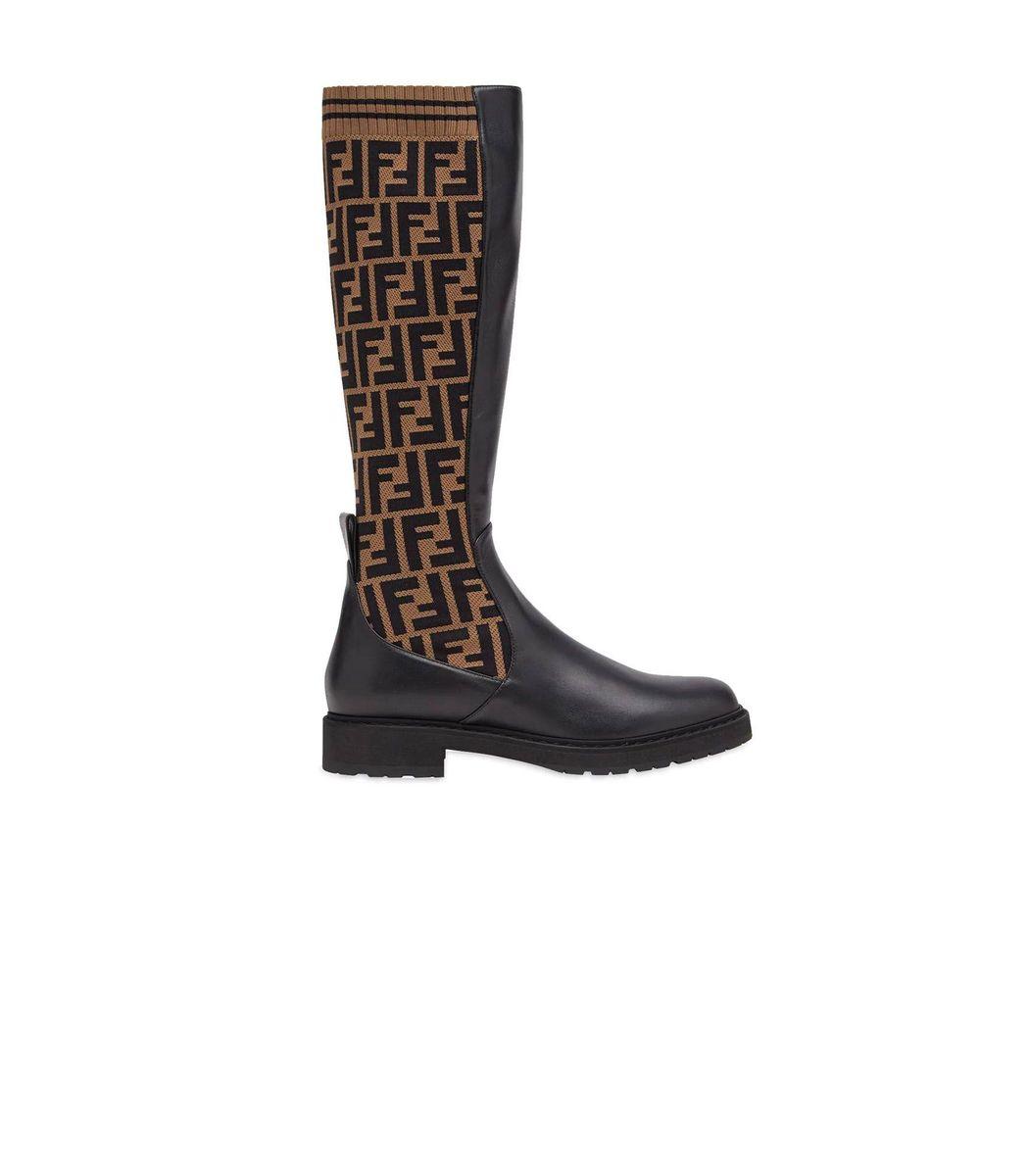 Fendi Rockoko Leather Boots