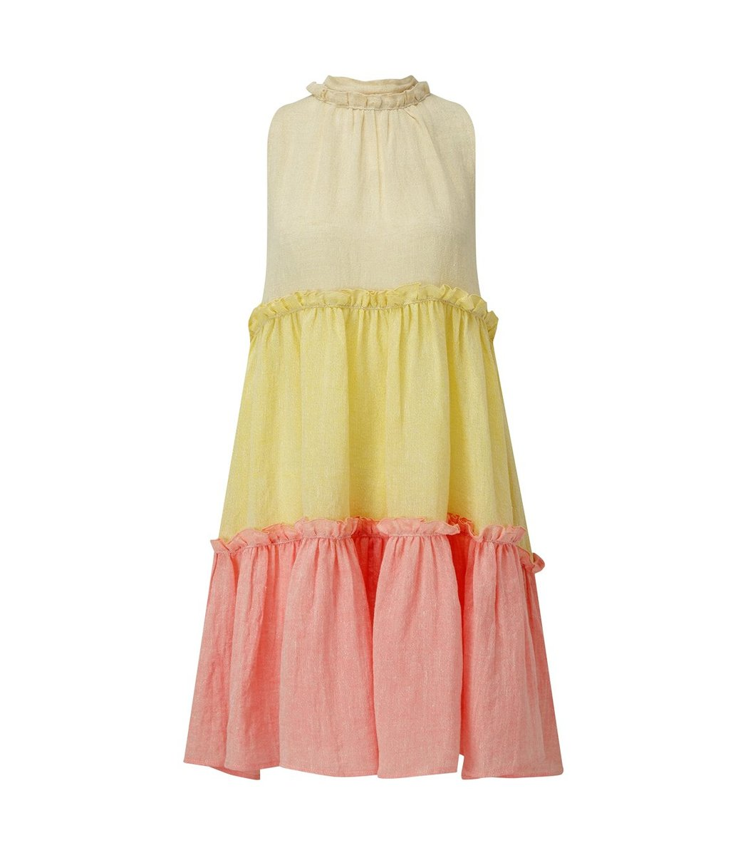 Lisa Marie Fernandez Erica Ruffle Mini Tiered Dress