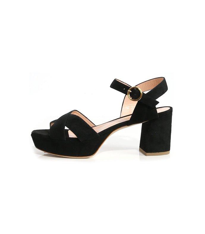 deidre suede sandal in black