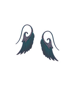 blue fly me to the moon earrings