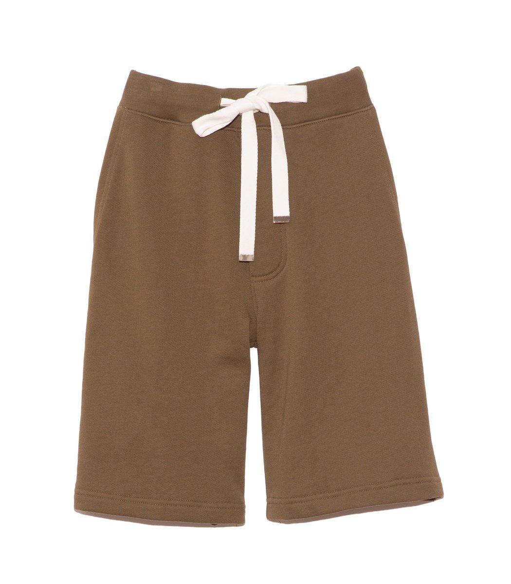 Tibi Cottons Sweatshirt Short in Loden