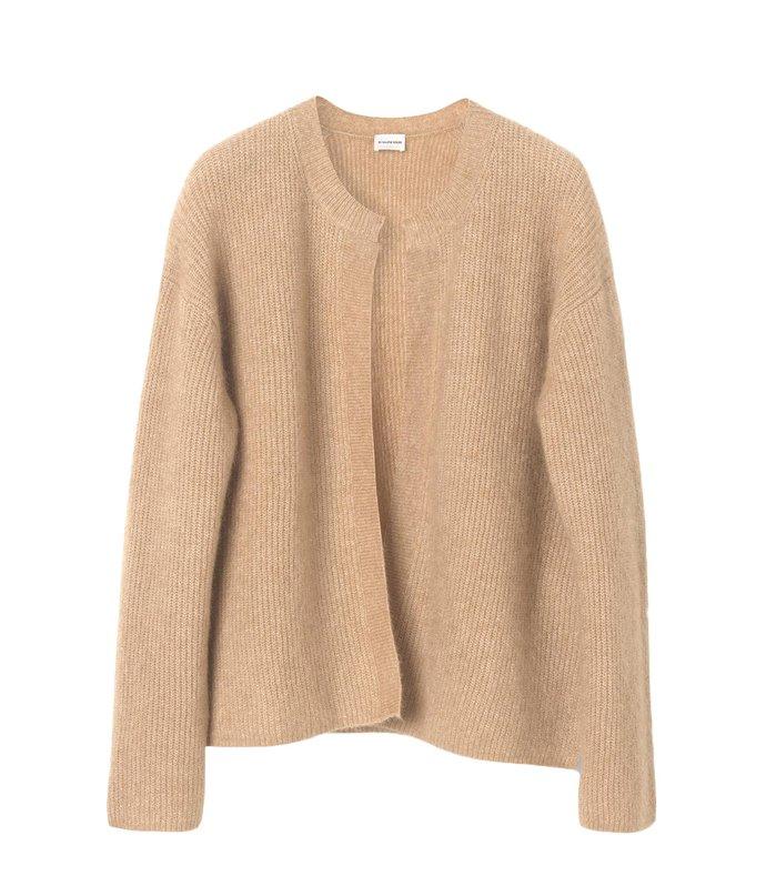 apios sweater in sandy brown