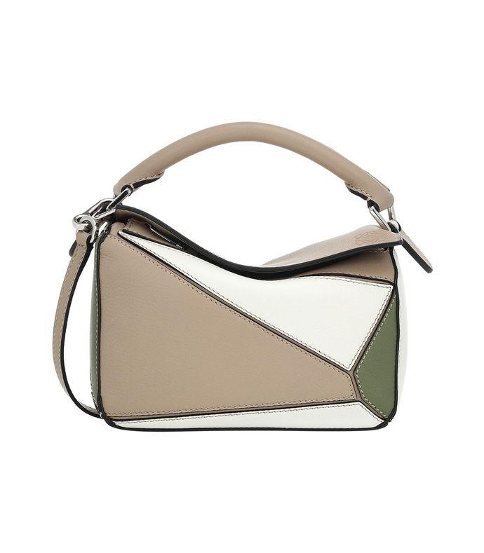 mini puzzle bag, sand & avocado green