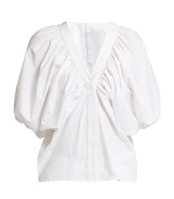 este cotton poplin blouse