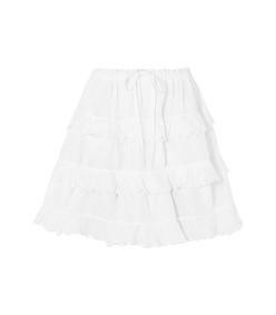 tiered linen skirt