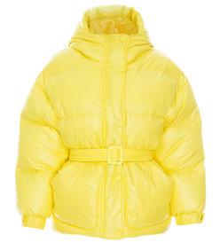 tech-fabric down puffer coat