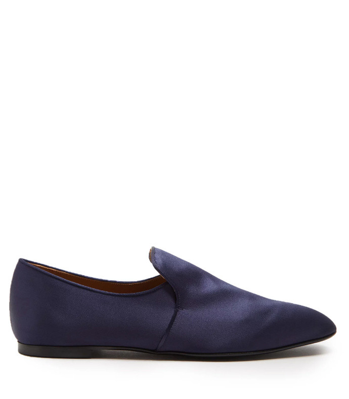 alys satin loafers