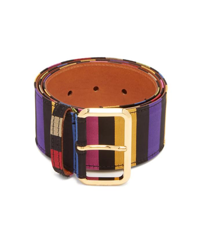 striped satin belt