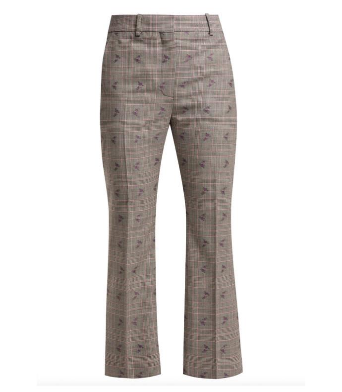 adler wool-blend flared trousers