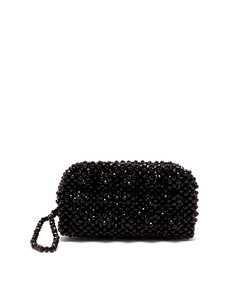molly faux pearl embellished clutch bag