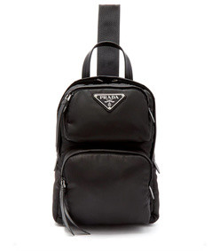 nylon single-strap crossbody backpack