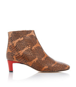 clusia snake-effect leather ankle boots