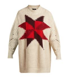 hanoi intarsia knit sweater - womens - ivory multi