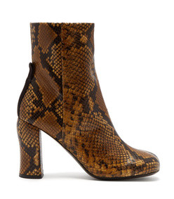 groucho python effect leather ankle boots