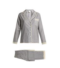 ines lace trimmed wool flannel pyjama set