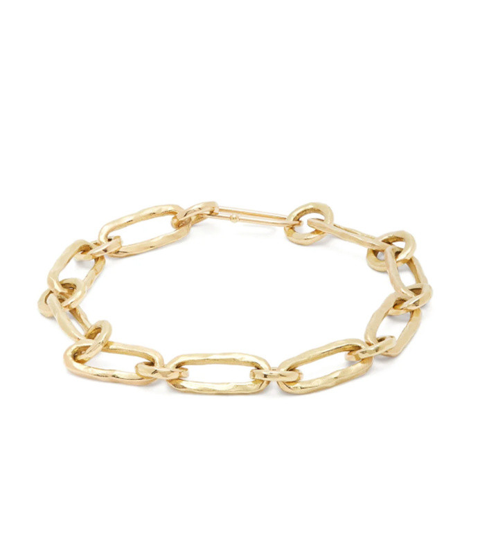 18kt gold chain bracelet
