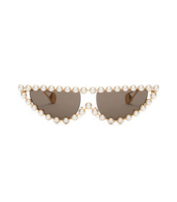 pearl embellished cat eye sunglasses