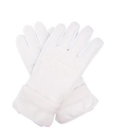 logo shell ski gloves