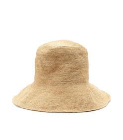 woven raffia bucket hat