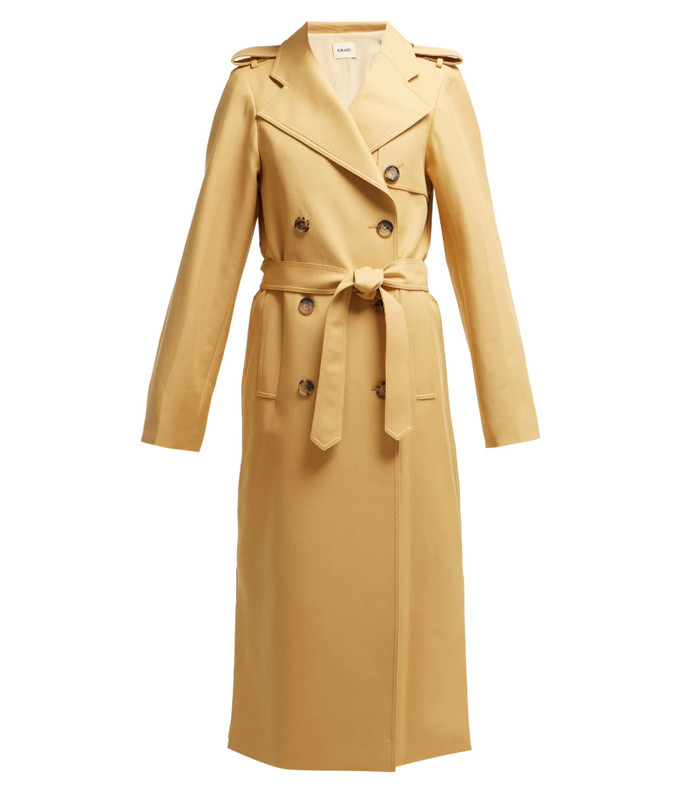 felice cotton twill trench coat