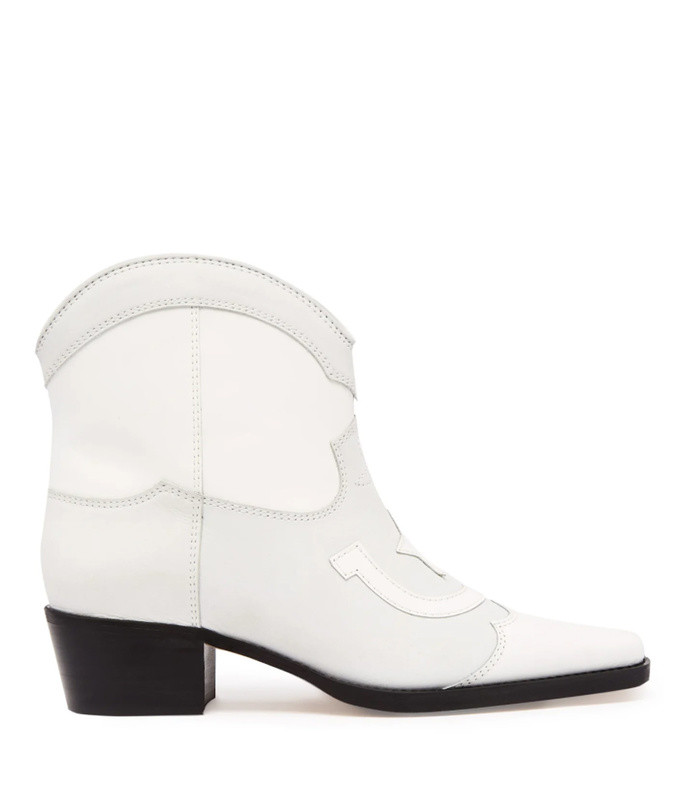 meg western style leather ankle boots