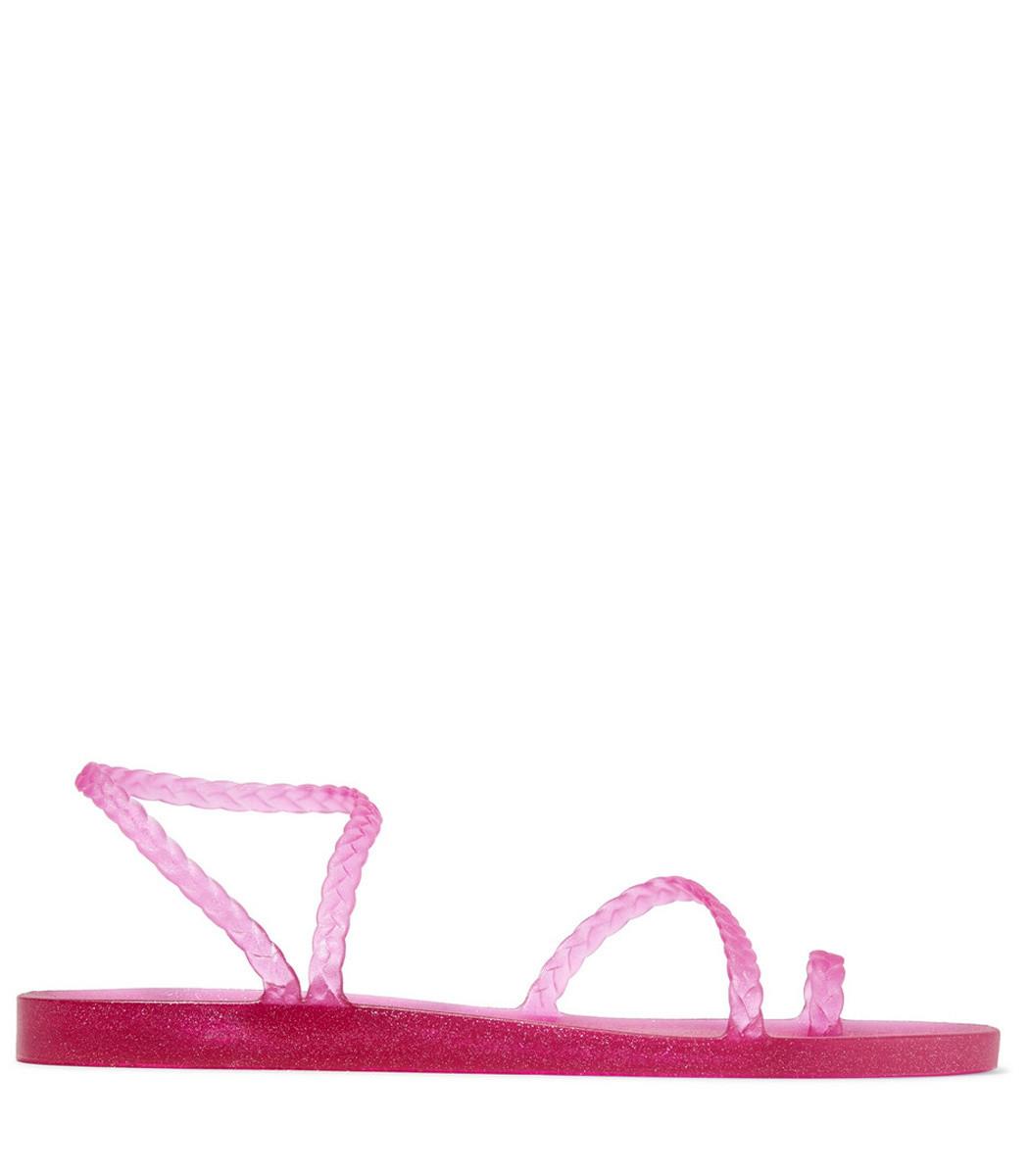 74413e0aee87 Ancient Greek Sandals Eleftheria Braided Glittered Rubber Sandals ...