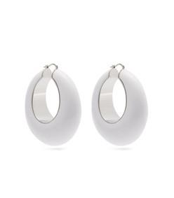 loop resin hoop earrings