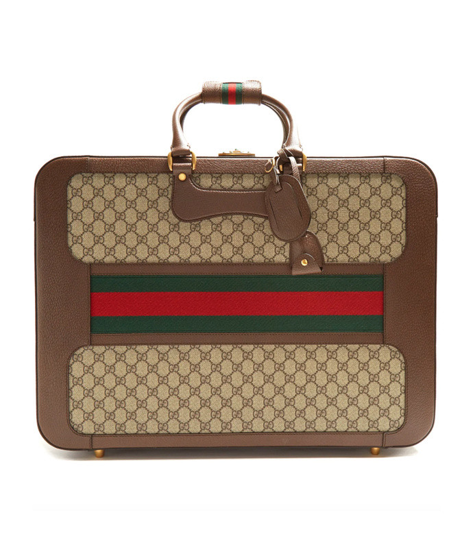 7e1f3c6dd gg supreme canvas and leather suitcase