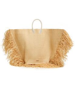 le grand baci woven straw bag