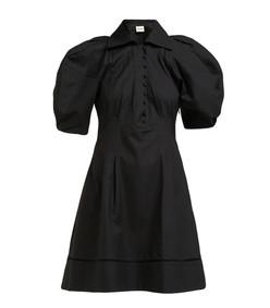 carline puff sleeve cotton mini dress